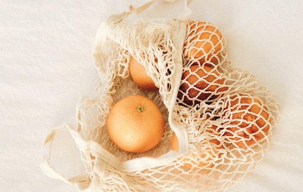 麻ひもで作る野菜ネット